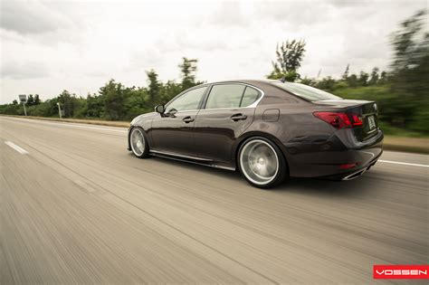 lexus gs350 slammed lexus gs350 slammed on vossen cv5 wheels video photo
