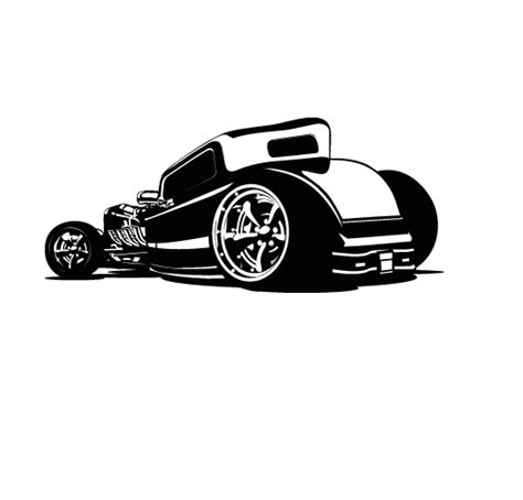 car wall sticker hotrod car wall decal removable wall stickers and wall decals