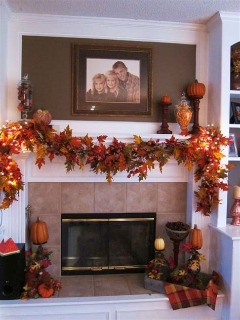 fall fireplace decor 37 awesome garland ideas to welcome the fall digsdigs