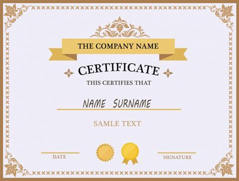 design certificate template free certificate design vectors photos and psd files free