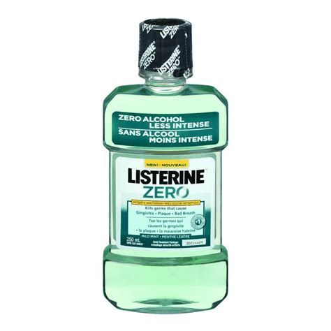 Listerine Zero 250ml Mouthwash buy listerine zero mouthwash 250 ml 250 ml from value valet