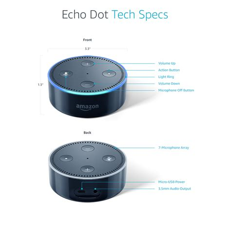 Echo Dot 2nd Generation Black White echo dot 2nd generation black target