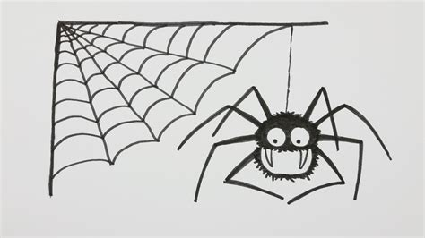 drawing web how to draw a spider with spiderweb