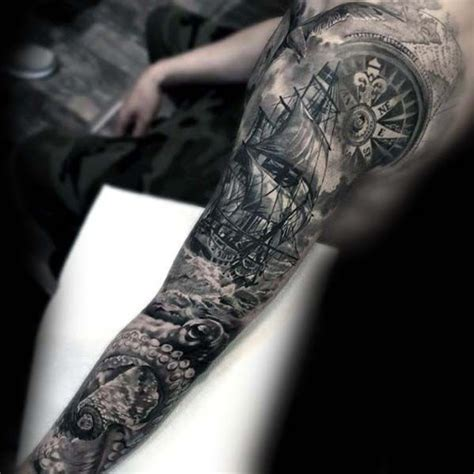 nautical sleeve tattoo designs best 25 nautical sleeve ideas on pirate