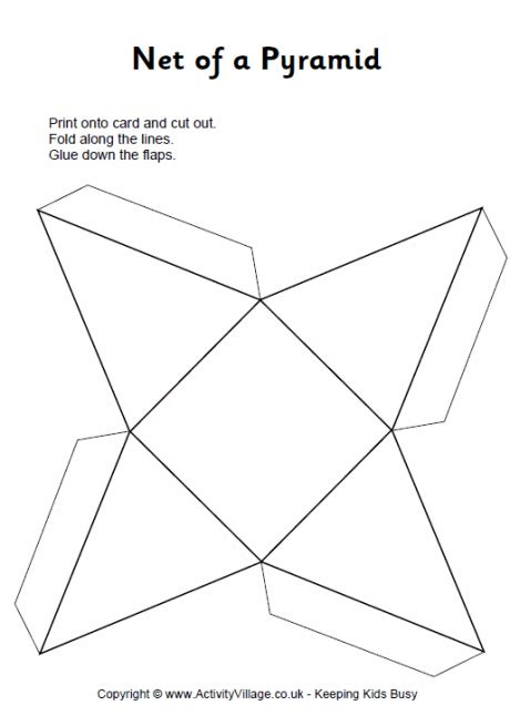 Make A 3d Pyramid Out Of Paper - pyramid net