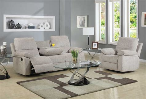 reclining living room furniture sets homelegance marianna reclining sofa set beige chenille