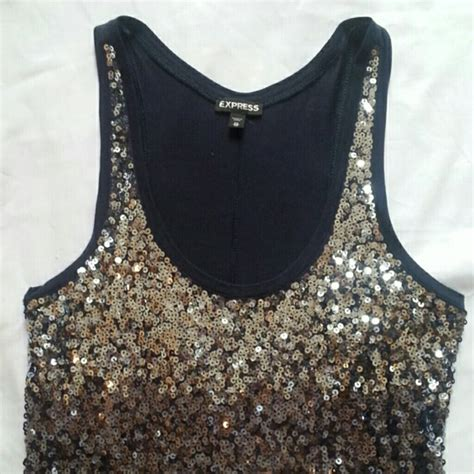 express top sequin preloved 54 express tops express ombre sequin top from casey