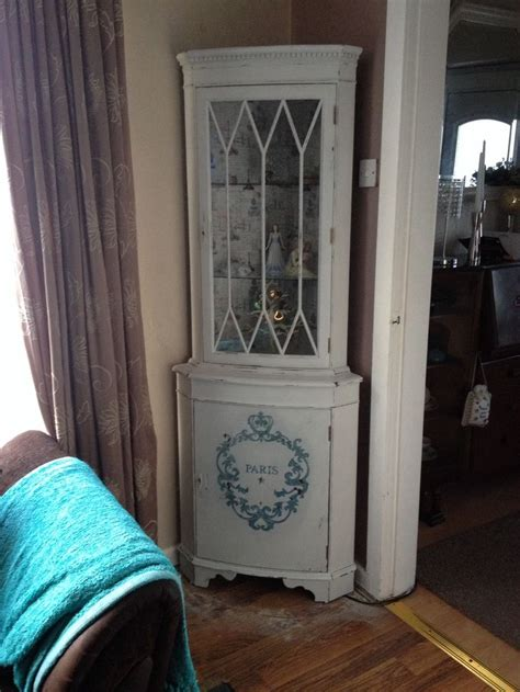 shabby chic corner cabinet 2nd shabby chic corner cabinet display unit with large