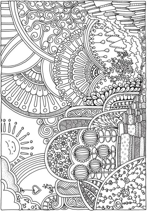 intricate fall coloring pages creative haven insanely intricate entangled landscapes