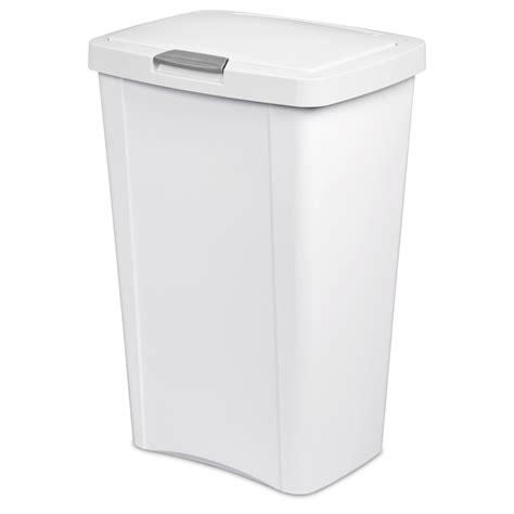 White Kitchen Trash Can by Shop Sterilite Corporation 13 Gallon White Indoor Garbage
