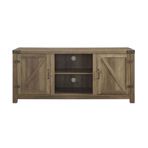 Barn Door Furniture Company Walker Edison Furniture Company 58 In Rustic Oak Barn Door Tv Stand With Side Doors Hd58bdsdro