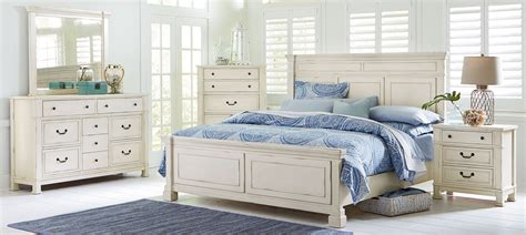white panel bedroom set chesapeake bay vintage chalk white panel bedroom set from
