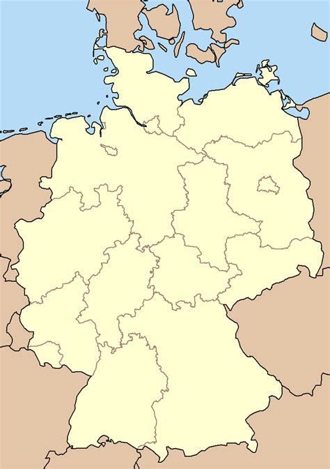 germany map states map of germany states