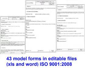 Iso 9001 Forms Templates Free by Bananarutracker