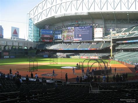minute maid park section 116 minute maid park section 116 houston astros rateyourseats com