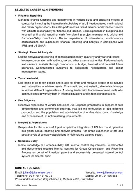 Resume Selected Accomplishments Search Results For Cd Template Page 2 Calendar 2015