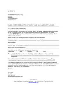 reference check letter template sle form biztree