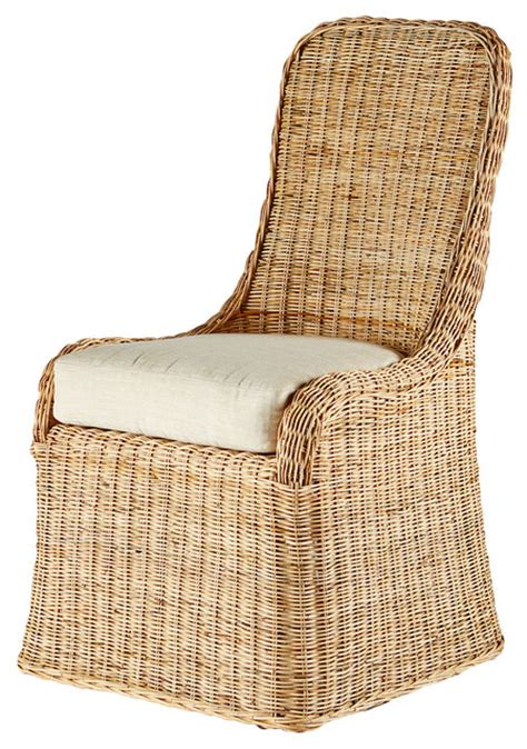 modern wicker accent chairs pamona rattan side chair contemporary