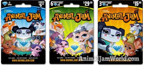 Animal Jam Membership Gift Card - where to get animal jam gift cards animal jam world
