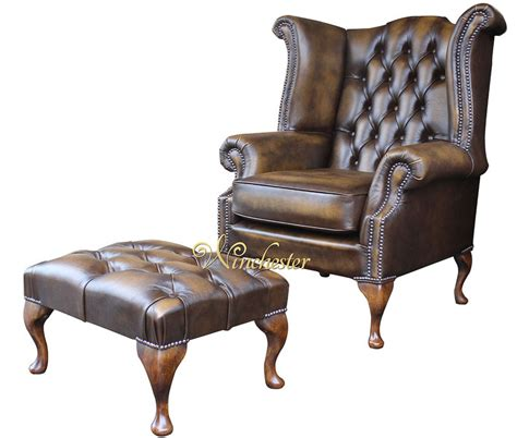 Gold Wing Back Chairs by Chesterfield Offer High Back Antique Gold Wing