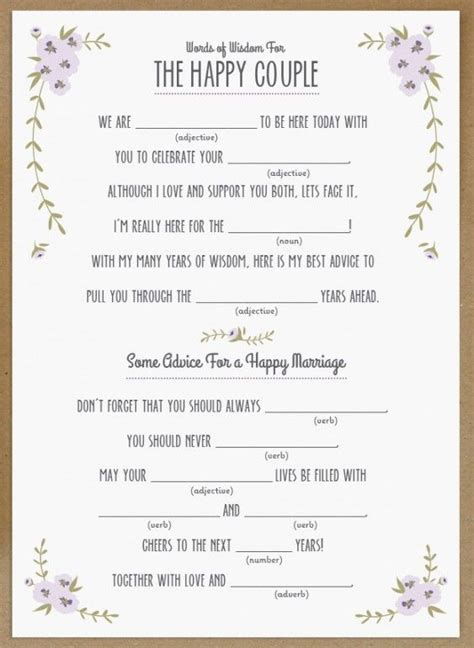 15 mad libs for your wedding bestbride101