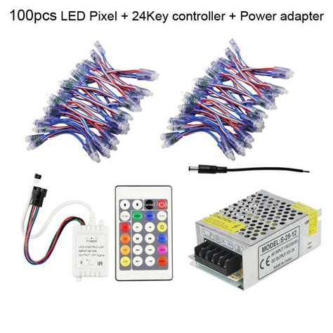 dc powered led christmas lights 12mm ws2811 led pixel module waterproof dc5v addressable