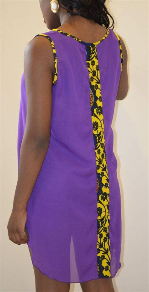 ankara blouses ankara strip chiffon blouse