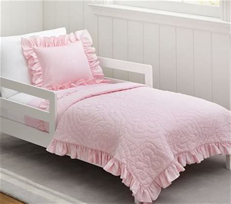 Toddler Quilt Bedding by Ruffle Toddler Bedding Pottery Barn