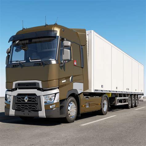 renault trucks si鑒e social 3d model renault t range
