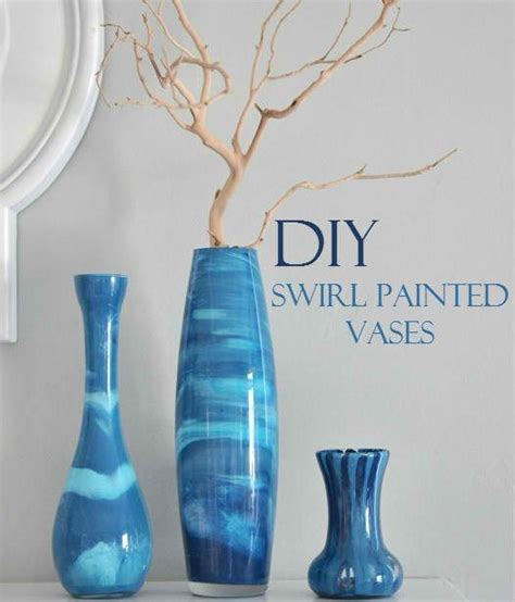 painting glass vases beautiful diy swirl painted vases