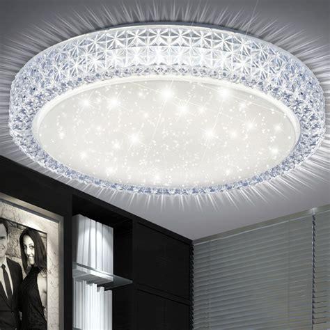 led beleuchtung zimmer led 22 watt decken leuchte rund wohn zimmer kristalle