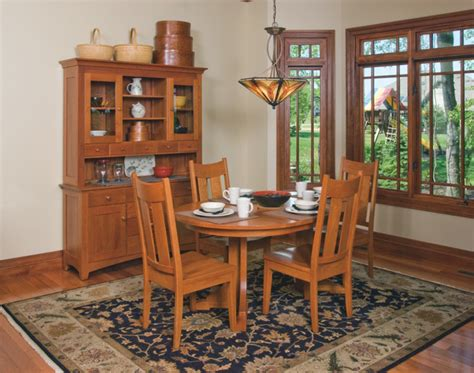 mission style dining room set craftsman style cherry dining room furniture craftsman