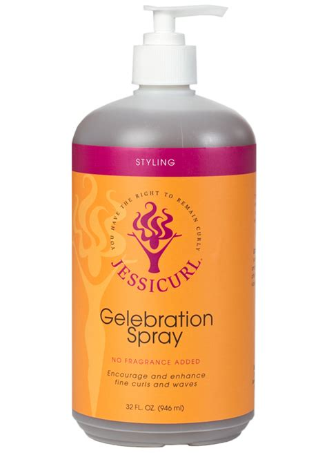 Hair Style Products by Gelebration Spray Jessicurl Curly Hair Products