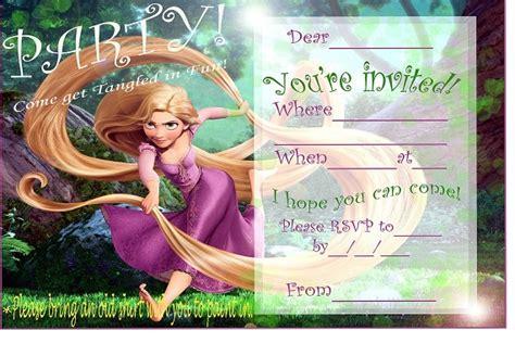 printable rapunzel invitations rapunzel birthday party invitation ideas bagvania free