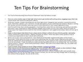 Ten tips for brainstorming ten tips for brainstorming great personal