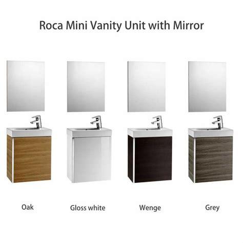 Roca Mini Vanity Unit With Mirror Uk Bathrooms Roca Bathroom Vanity Units