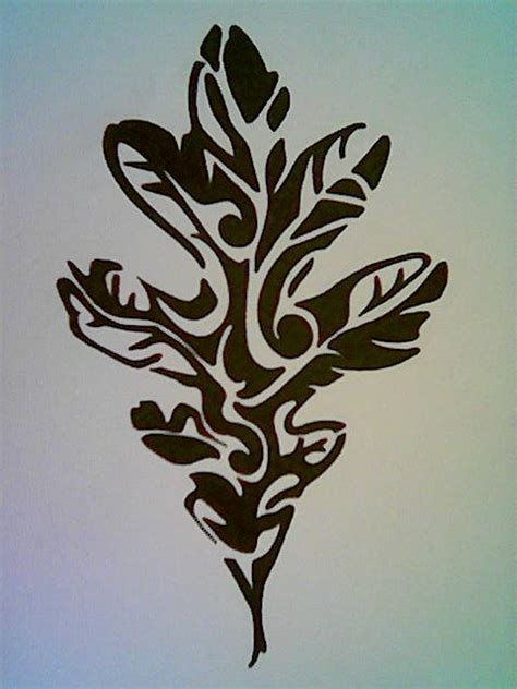 oak leaf tattoo black and white oak leaf design tattoos that i
