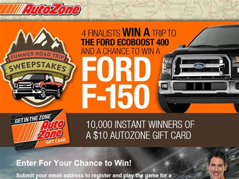 Autozone Sweepstakes - the autozone summer road trip sweepstakes