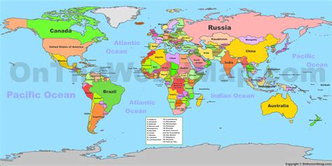 world political map  countries