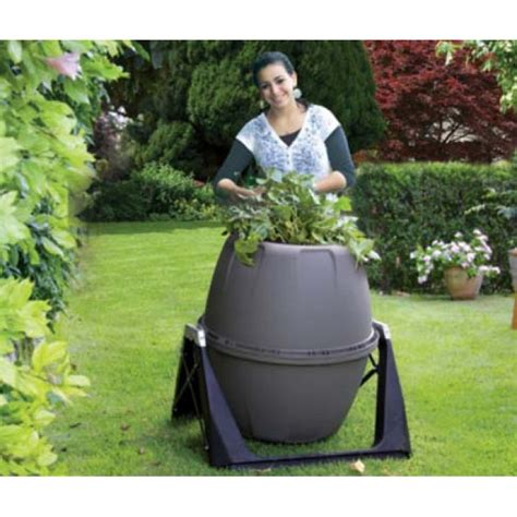 compostiera da giardino compostiera da giardino rotante 180 lt