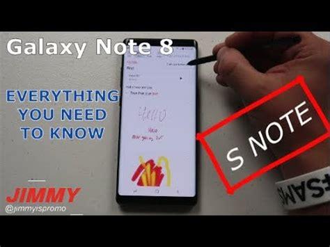 tutorial note 8 samsung notes in depth tutorial galaxy note 8