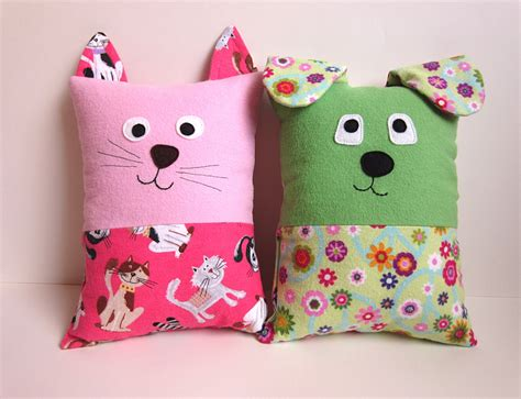 Sewing Pillow cat pillow pattern tutorial pdf sewing pattern with