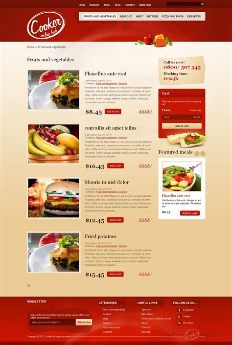 drupal themes review cooker review a drupal restaurant theme by themeforest