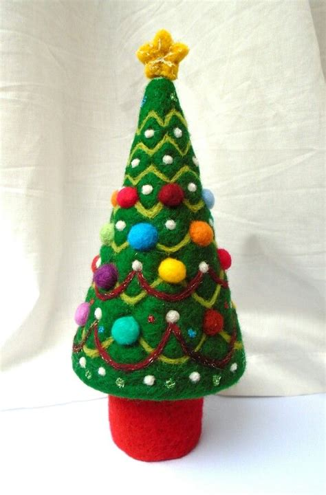 needle felted christmas tree sshaw christmas