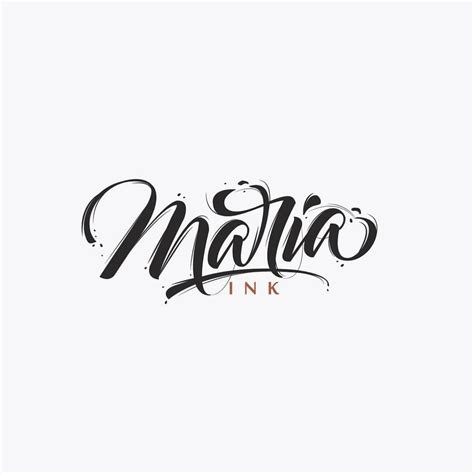 tattoo lettering maria pin by slanty on art typo pinterest logos
