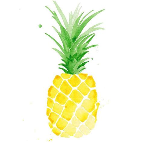Fish Wall Sticker pina pineapple watercolor print watercolor print giclee