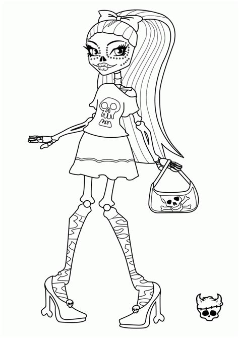 monster high print outs coloring home