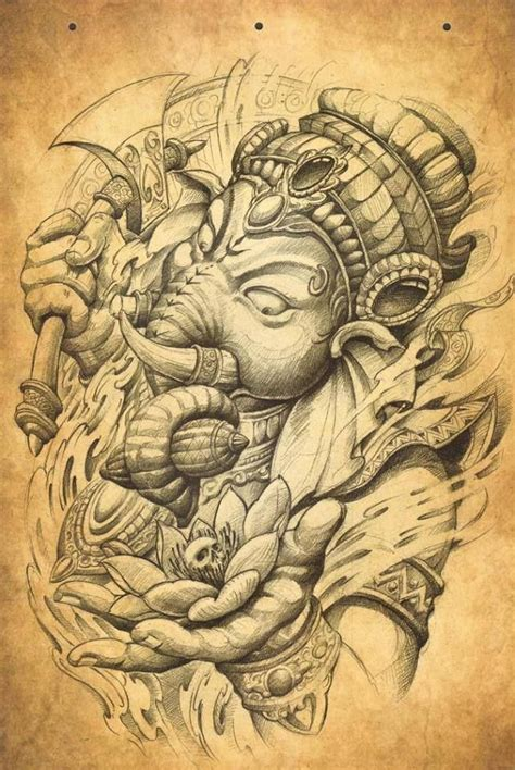 tattoo oriental rosto 1000 ideias sobre tatuagem ganesha no pinterest