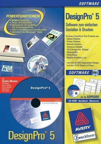 Pro Office Etiketten Drucken by Office Zweckform Avery Designpro V5 0 Mygully