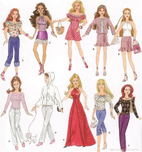 pattern dolls clothes sew best 25 barbie sewing patterns ideas on pinterest free